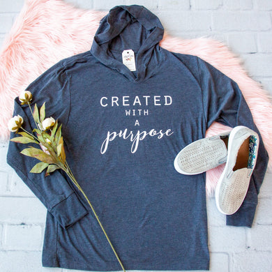 Created with a Purpose T-Shirt Hoodie-ellyandgrace