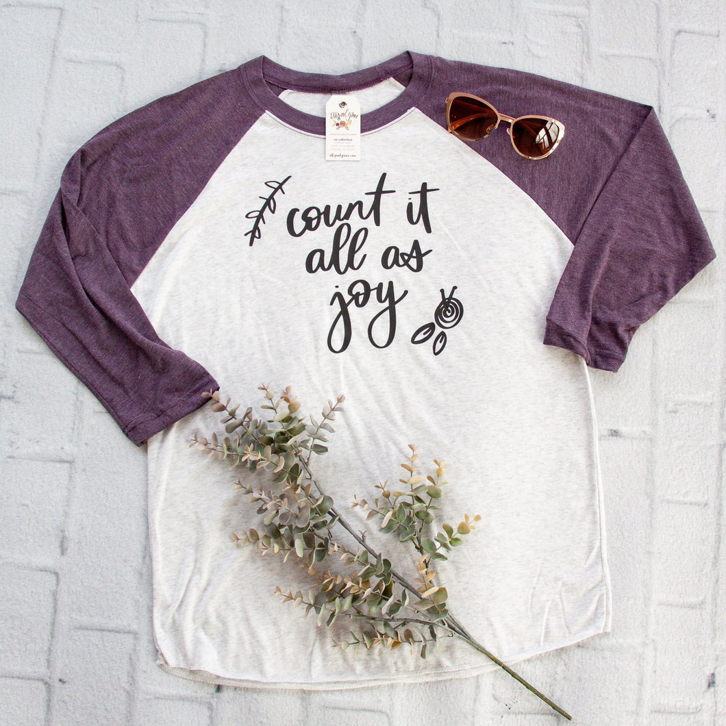 Count it All as Joy Baseball Shirt-ellyandgrace