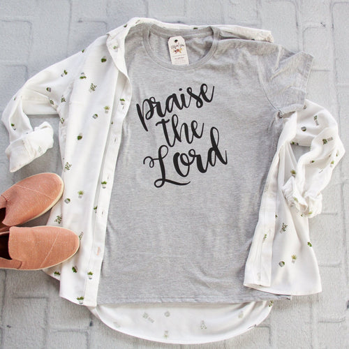 Praise the Lord Short Sleeve Shirt-ellyandgrace