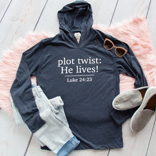 Plot Twist: He Lives! T-Shirt Hoodie-ellyandgrace