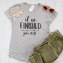 It Is Finished Triblend Christian Tee Shirt-ellyandgrace