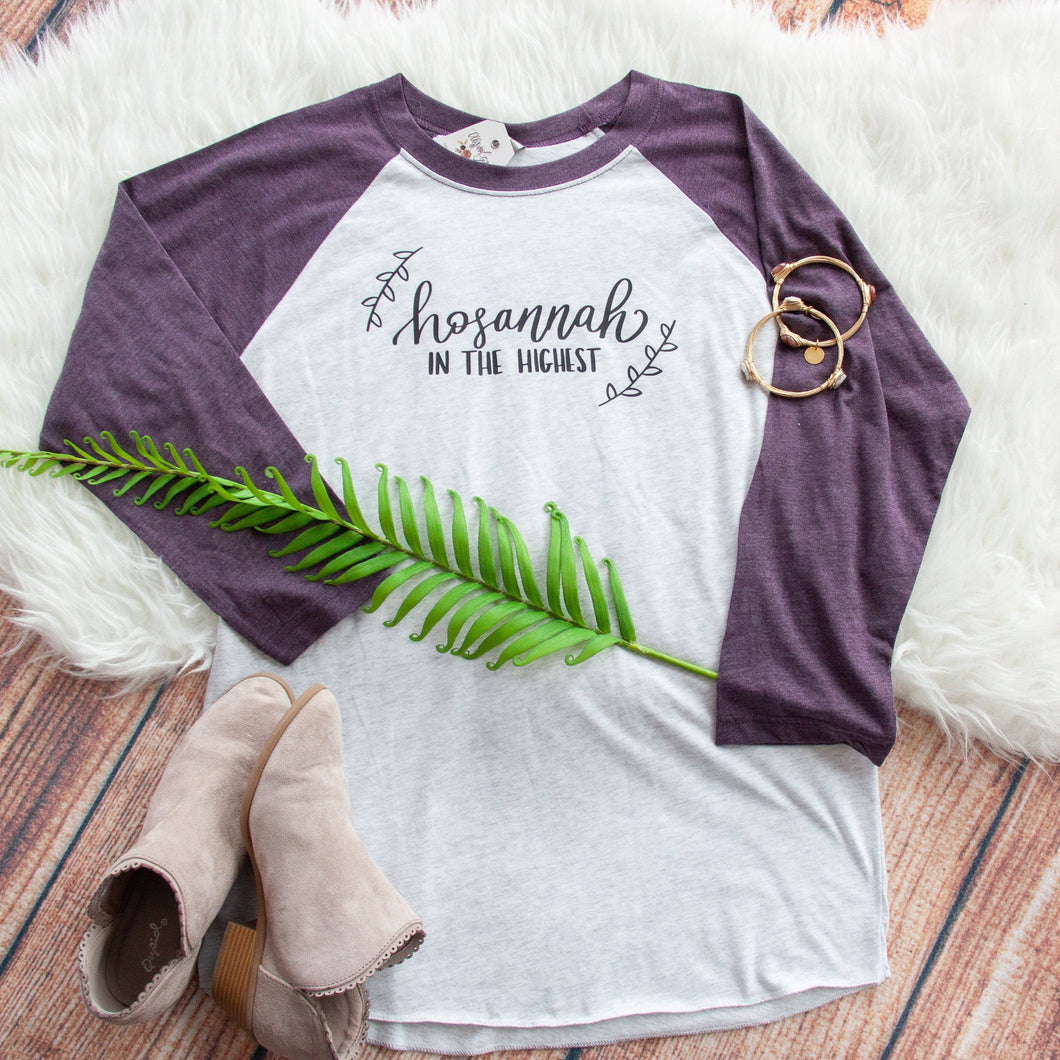 Hosannah in the Highest Baseball Shirt-ellyandgrace