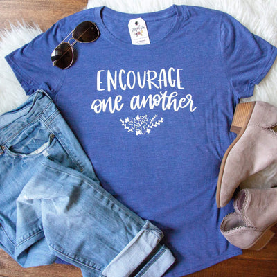 Encourage One Another Ladies Short Sleeve Shirt