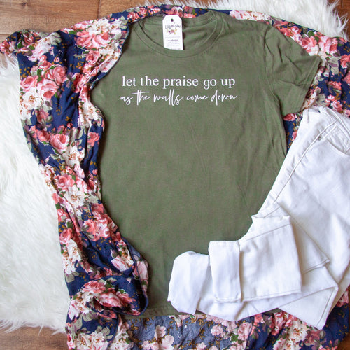 Let the Praise Go Up as the Walls Come Down Classic Short Sleeve Shirt