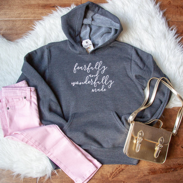 Fearfully and Wonderfully Made Premium Kids Hoodie
