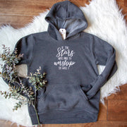 If the Stars were Made to Worship So Will I Premium Kids Hoodie
