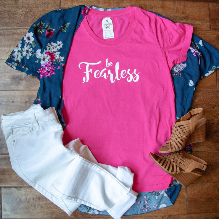 Be Fearless Ladies Maternity Shirt