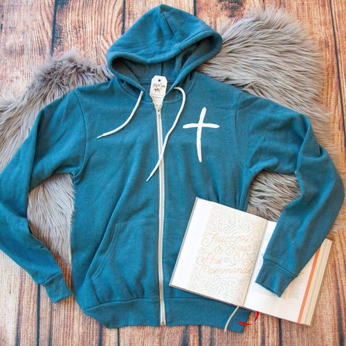 Cross Premium Fleece Zip Up Hoodie
