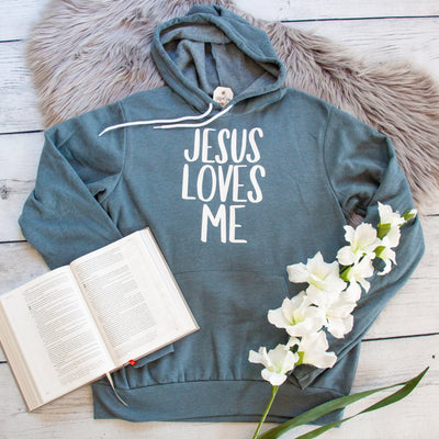 Jesus Loves Me Premium Fleece Hoodie