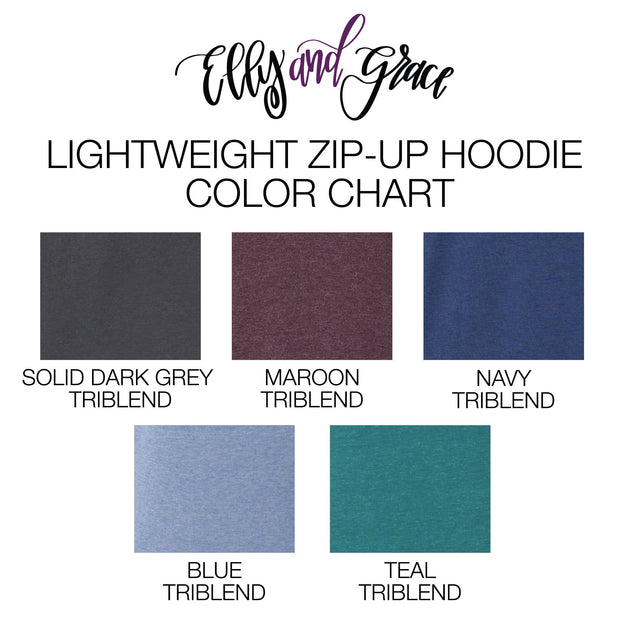 Joyful Lightweight Zip up Hoodie