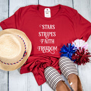 Stars Stripes Faith Freedom Unisex Shirt