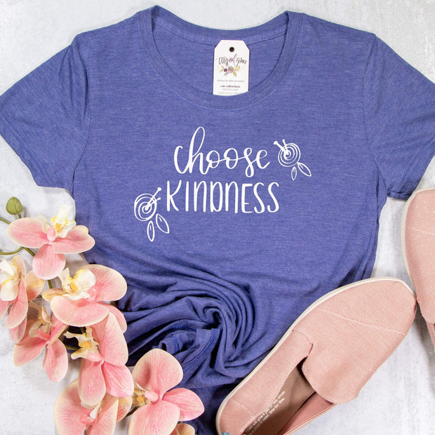 Choose Kindness Ladies Short Sleeve Shirt