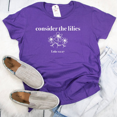 Consider the Lilies Ladies Short Sleeve Shirt