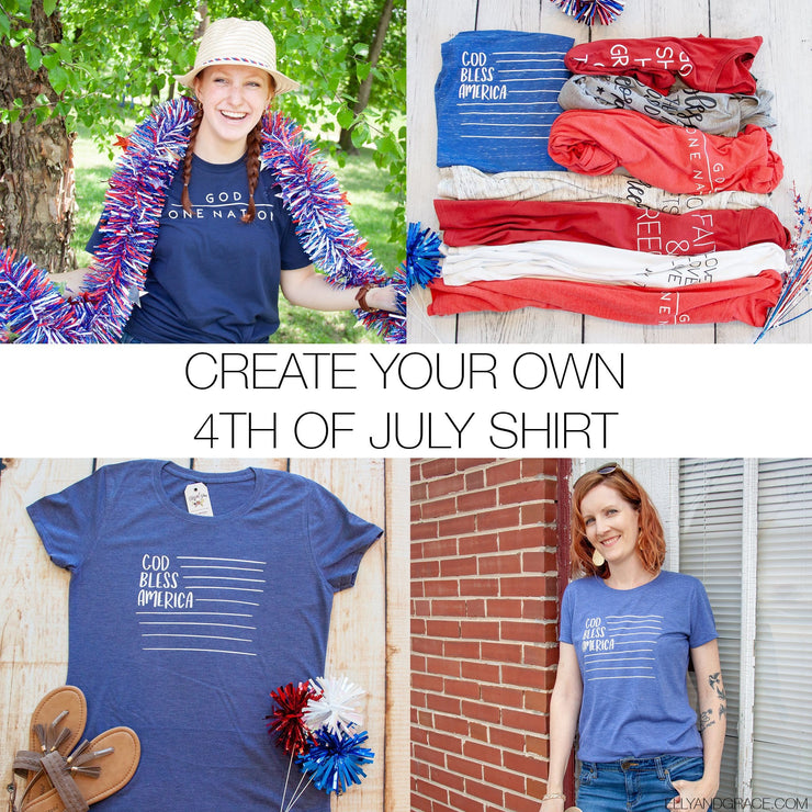 Create your Own Ellyandgrace 4th of July Tee!