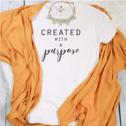 Created with a Purpose Ladies Short Sleeve Shirt