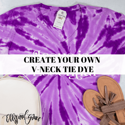 Create Your Own V-Neck Tie Dye Short Sleeve Shirt