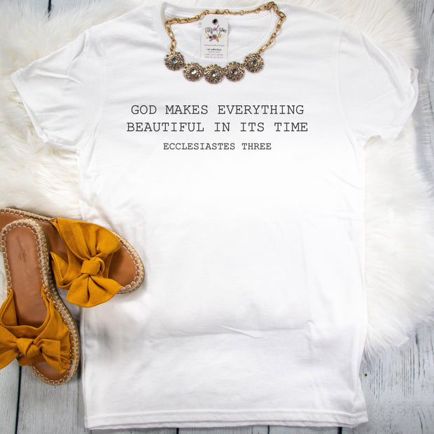 God Makes Everything Beautiful Ladies Short Sleeve Shirt