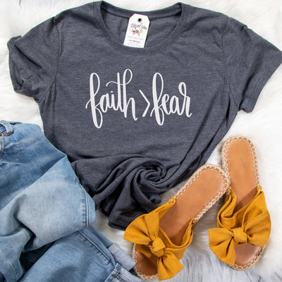 Faith > Fear Ladies Short Sleeve Shirt