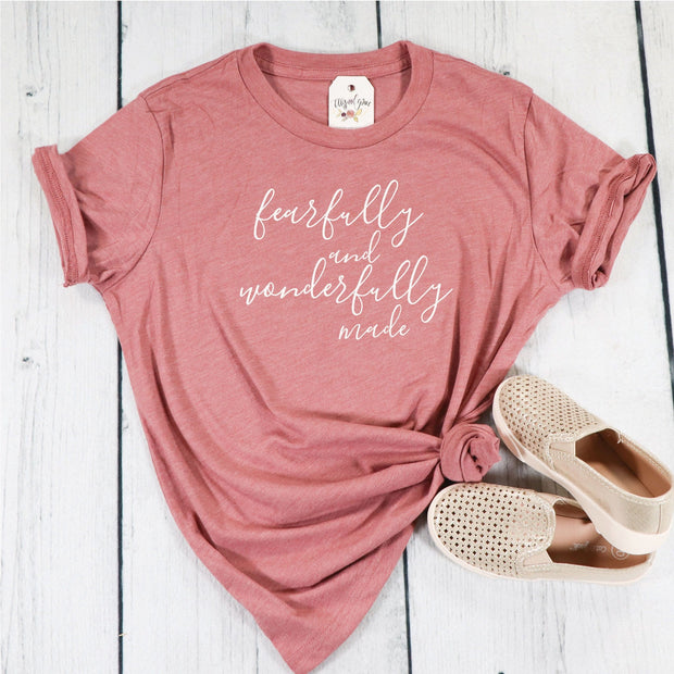 Fearfully and Wonderfully Made Unisex Youth Shirt