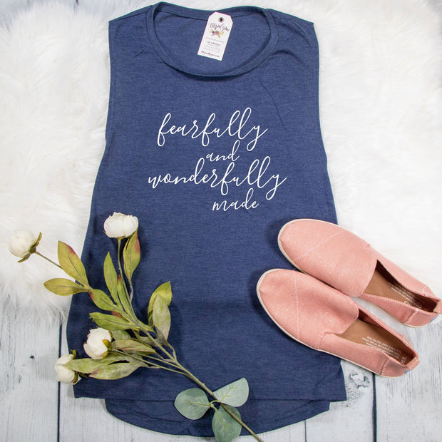 Fearfully and Wonderfully Made Ladies Muscle Tank