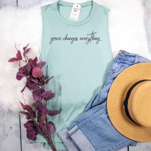 Grace Changes Everything Ladies Muscle Tank