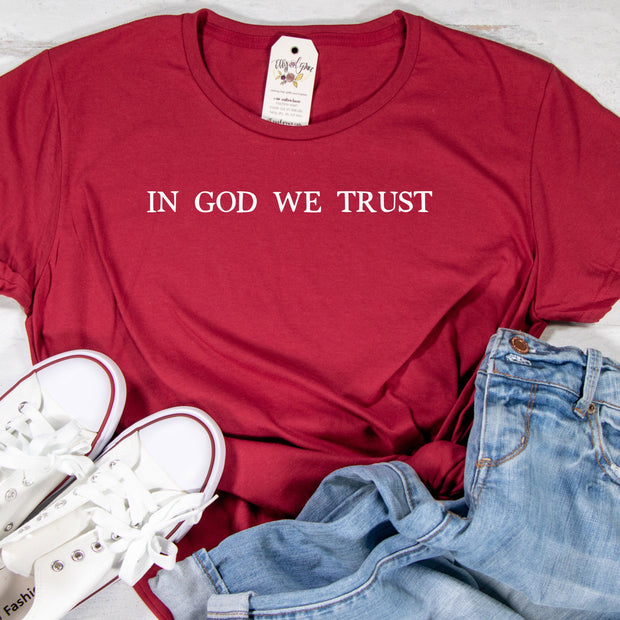 In God We Trust Ladies Short Sleeve Shirt