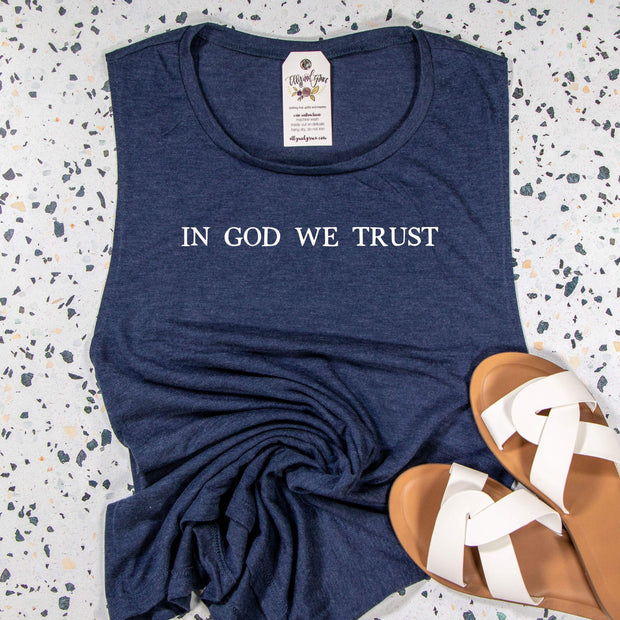 In God We Trust Ladies Muscle Tank