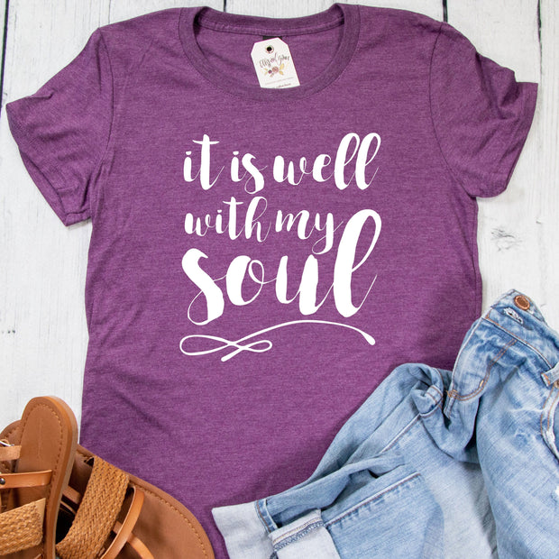 It is Well with My Soul Ladies Short Sleeve Shirt