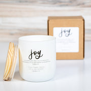 JOY Hand-Poured Glass Soy Candle