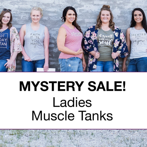 Ladies Muscle Tank Surprise Sale Pack - Christian shirt for women