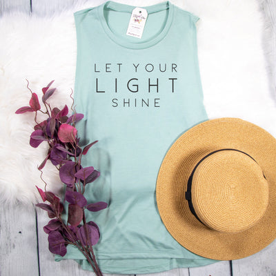 Let Your Light Shine Ladies Muscle Tank