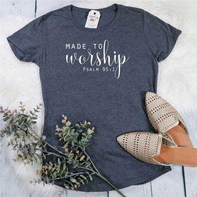 Made to Worship Ladies Short Sleeve Shirt