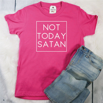 Not Today Satan Youth Shirt