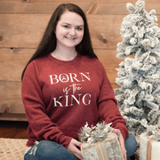Born is the King Premium Fleece Pullover