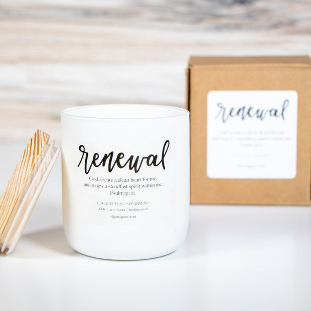RENEWAL Hand-Poured Glass Soy Candle