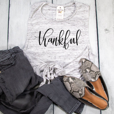 Thankful Ladies Muscle Tank
