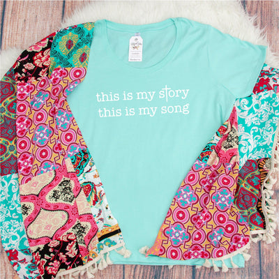 This is my Story This is My Song Curvy Tee