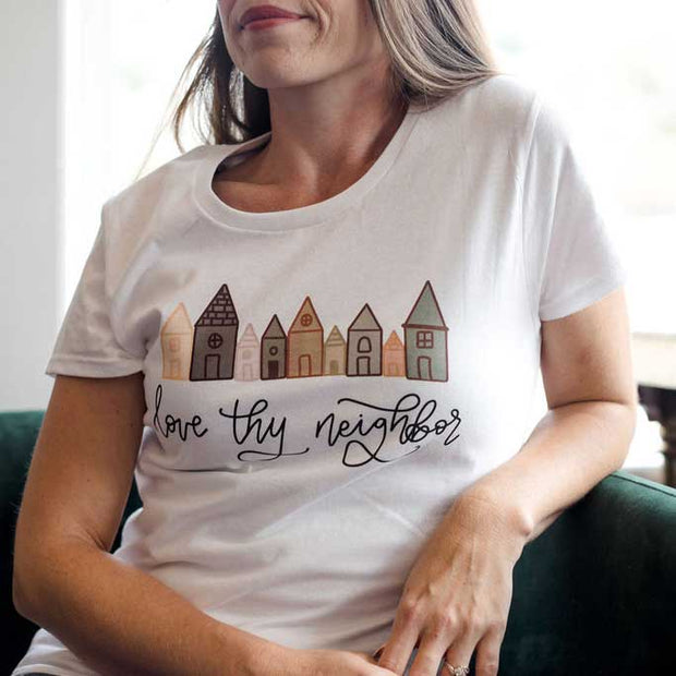 LIMITED EDITION Love Thy Neighbor Ladies Short Sleeve Shirt