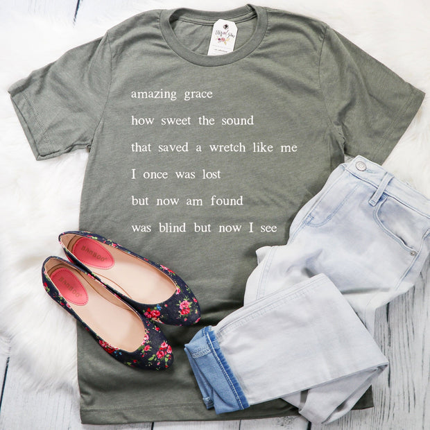 Amazing Grace Verse Unisex Shirt
