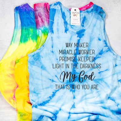 LIMITED EDITION Way Maker Mystery Tie Dye Tank
