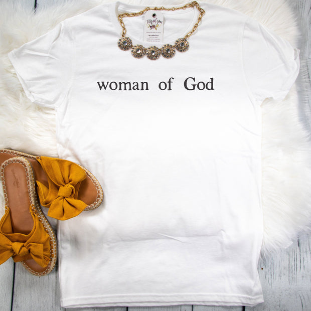 Woman of God Ladies Short Sleeve Shirt