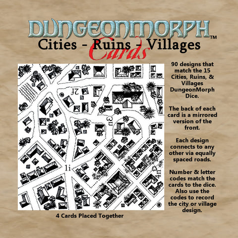 "DungeonMorph Cities, Ruins, Villages 6"" Cards"