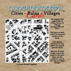 "DungeonMorph Cities, Ruins, Villages 2.5"" Cards"