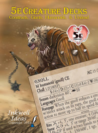 5e Creature Decks: Constructs, Giants, Humanoids, Undead