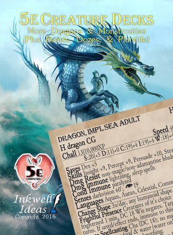 5e Creature Decks: More Dragons & Monstrosities