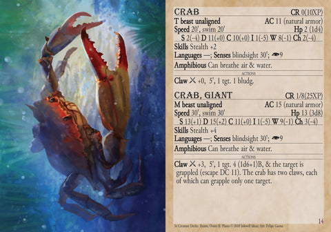 5e Creature Decks: Beasts, Oozes, & Plants – Inkwell Ideas