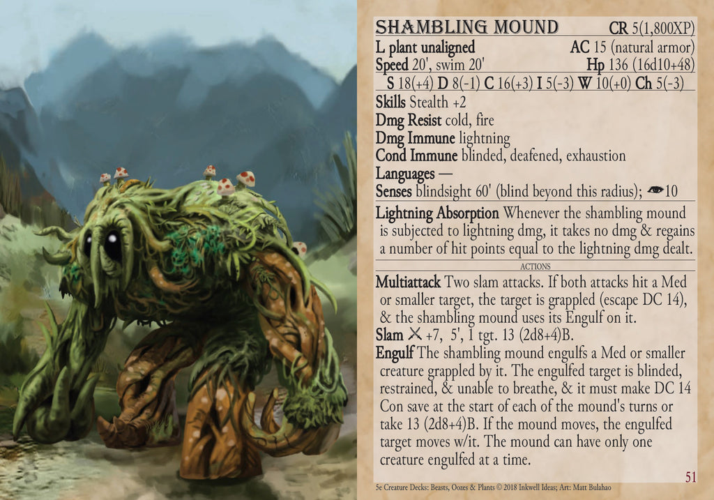 5e Creature Decks: Beasts, Oozes, & Plants