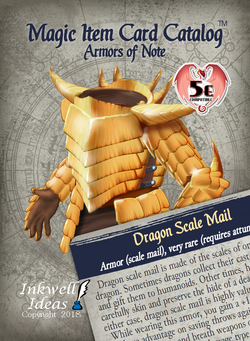 Magic Item Card Catalog (5e): Armors of Note