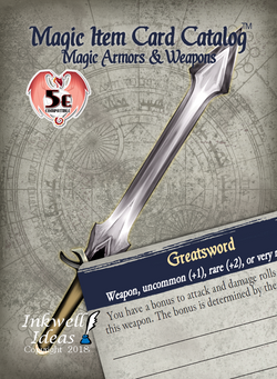 Magic Item Card Catalog (5e): Magic Armors & Weapons