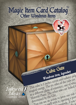 Magic Item Card Catalog (5e): Other Wondrous Items